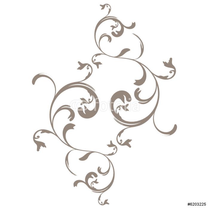 Papier peint vecteur s rie fleur arabesque pixers for Papier peint arabesque