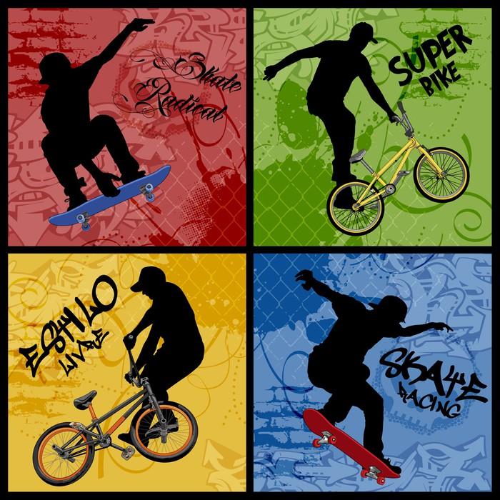Vinylová Tapeta Bike vs Skate -