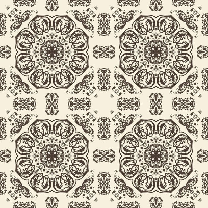 Vector seamless floral vintage pattern Vinyl Wallpaper - Backgrounds