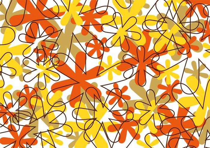 Vinylová Tapeta Grafický vzor - Květiny