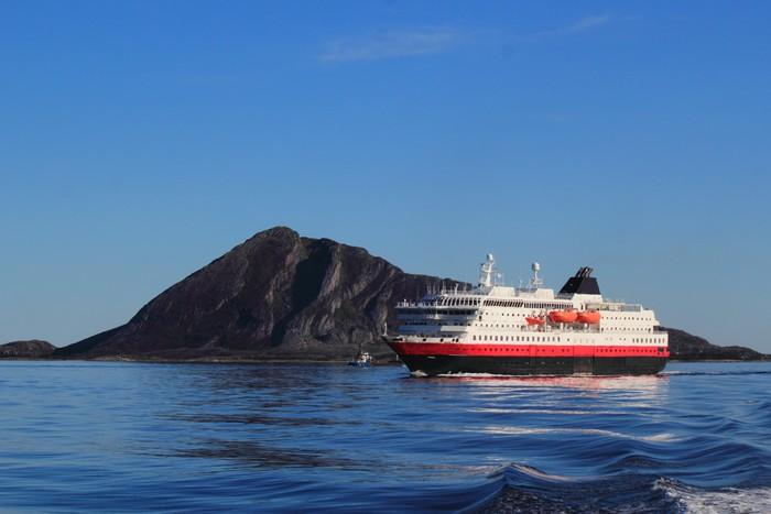 coastal ship on the coast of Northern Norway Vinyl Wallpaper - Europe
