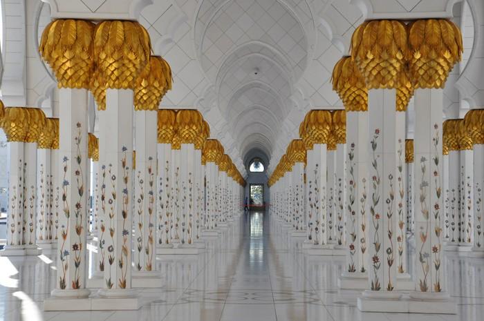 Vinylová Tapeta Sheikh Zayed Velká mešita v Abu Dhabi, Spojené arabské emiráty - Střední Východ