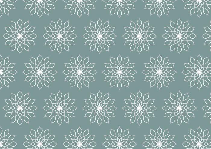 Vinylová Tapeta Retro Silver Květinový vzor na pastelové barvy pozadí - Pozadí