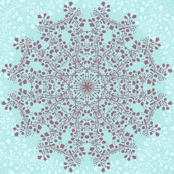 Vinylová Tapeta Flower Mandala - Styly