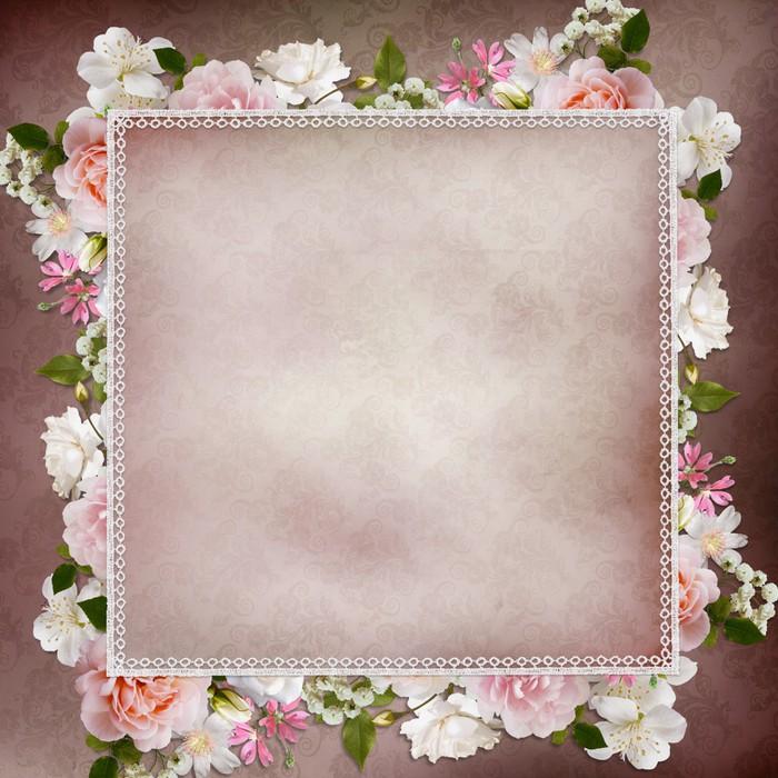 Plakát Hraniční růží, krajky na vinobraní pozadí - Štěstí