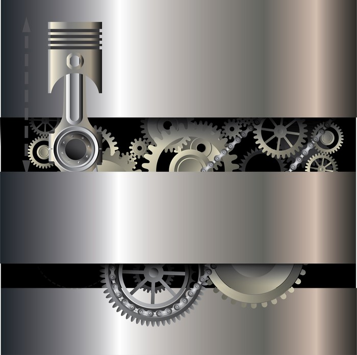 Vinylová Tapeta Mechanické pozadí - Struktury