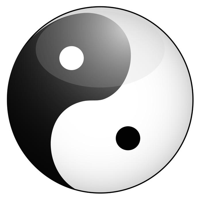 Yin Yang Symbol Wall Mural Pixers We Live To Change