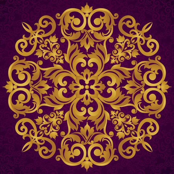 Sticker vector ornement baroque dans le style victorien - Stickers baroque pour meuble ...