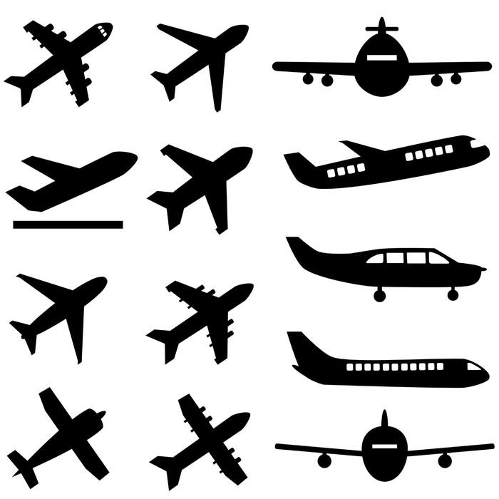 Vinylová Tapeta Letadla v černé barvě - Vzduch