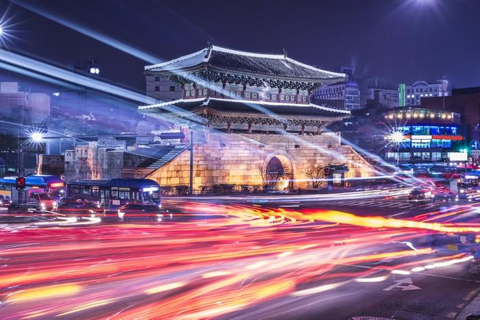 Vinylová Tapeta Soul, Jižní Korea Panoráma - Témata