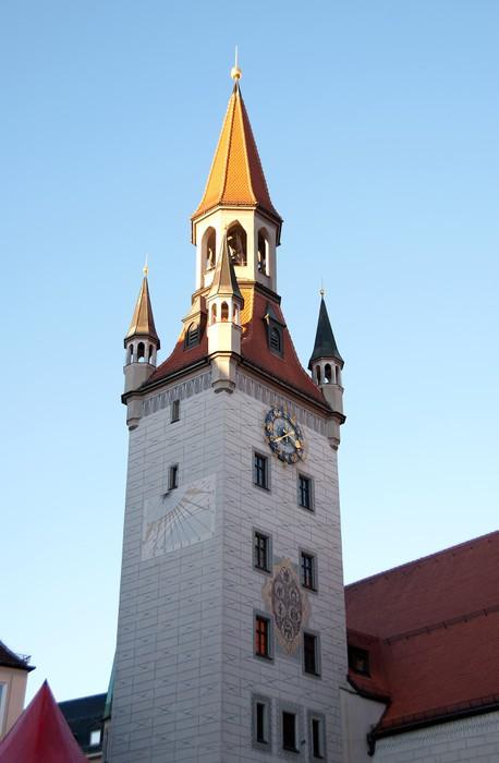 Vinylová Tapeta Fotografie z Altes Rathaus (stará radnice), Mnichov, Německo - Evropa