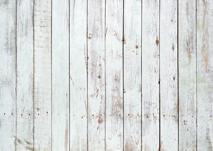 Carta da Parati in Vinile Sfondo bianco e nero di tavolato in legno -