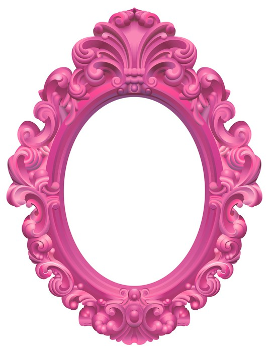 sticker cadre baroque ovale rose pixers nous vivons pour changer. Black Bedroom Furniture Sets. Home Design Ideas