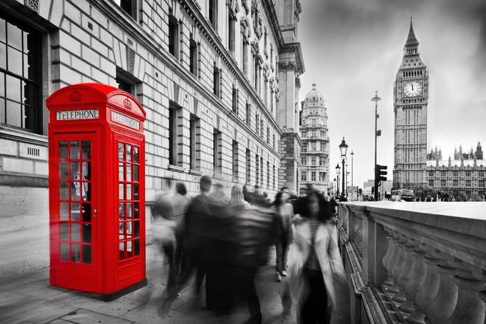 Cabina Telefonica Londinese Wikipedia : Adesivo cabina telefonica rossa e il big ben a londra inghilterra