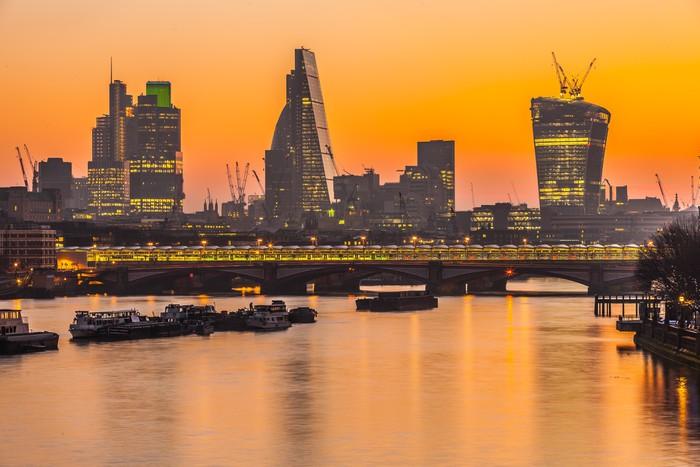 Vinylová Tapeta Londýn Panoramata za soumraku Anglie UK - Evropská města
