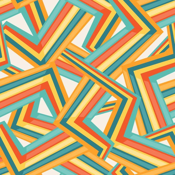 Vinylová Tapeta Bright abstraktní bezešvé geometrický vzor. - Móda
