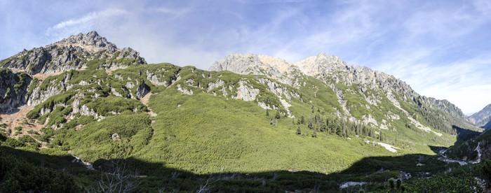 Vinylová Tapeta Panorama - výstup na horu - Hory