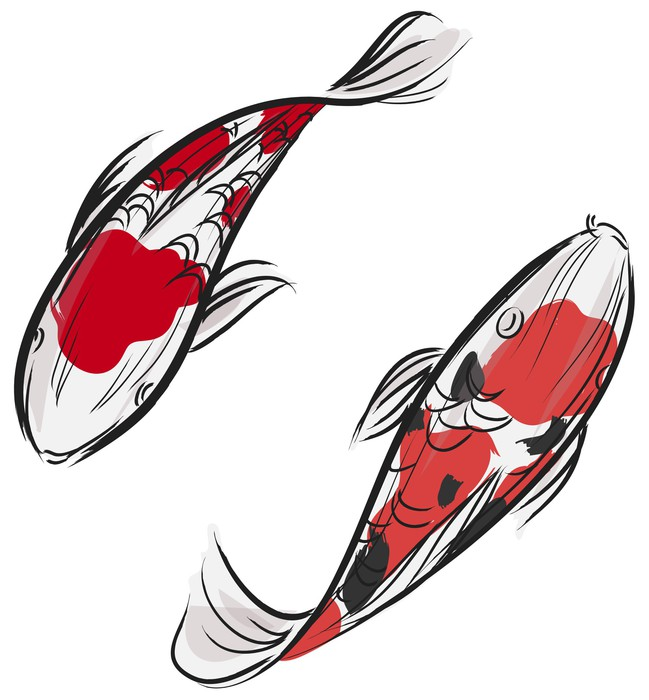 Sticker peinture professionnelle artisic de carp poissons for Carpe koi a acheter