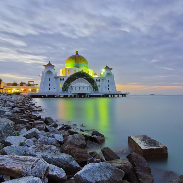 Vinylová Tapeta Malacca Straits mešita (Masjid Selat Melaka) je mešita se nachází - Náboženství