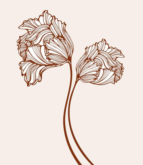 papier peint tulipes d coratifs pixers nous vivons. Black Bedroom Furniture Sets. Home Design Ideas
