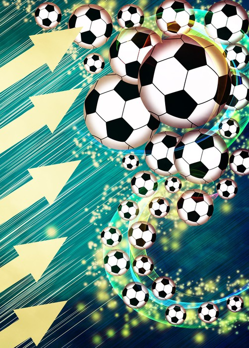 Vinylová Tapeta Fotbal nebo fotbal pozadí -