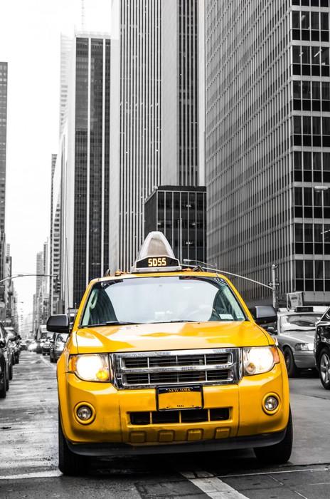sticker taxi jaune de new york pixers nous vivons pour changer. Black Bedroom Furniture Sets. Home Design Ideas