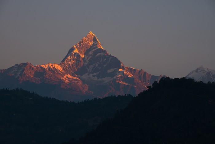 Vinylová Tapeta Machapuchare při východu slunce, Pokhara, Nepál - Témata