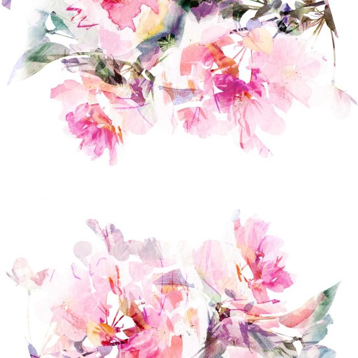Vinylová Tapeta Květinové pozadí akvarel. Roses. - Styly