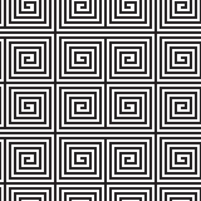 Vinylová Tapeta Black and White Op Art design, vektorové bezešvé vzor Backgroun - Pozadí