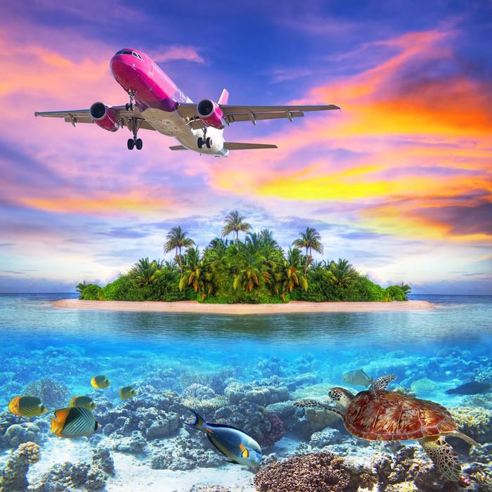 Vinylová fototapeta Dovolená na tropickém ostrově Maledivy - Vinylová fototapeta