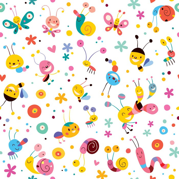 papier peint papillons col opt res escargots abeilles. Black Bedroom Furniture Sets. Home Design Ideas