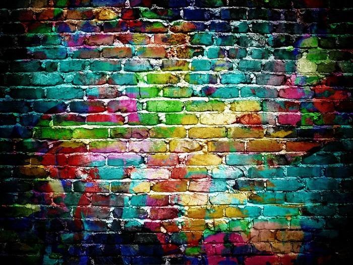 Graffiti Brick Wall Wall Mural Pixers 174 We Live To Change