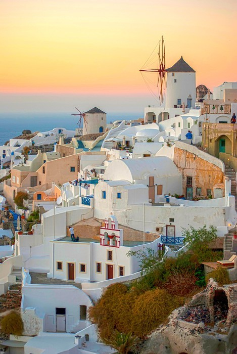 Santorini Greece Vinyl Wallpaper - Europe