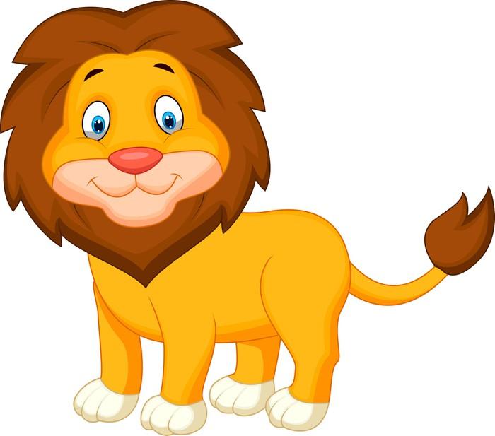 Adesivo leone carino cartone animato pixers viviamo