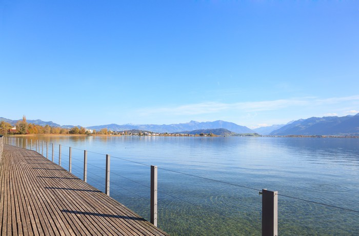 Vinylová Tapeta Rapperswil, zobrazit u jezera Obersee - Voda