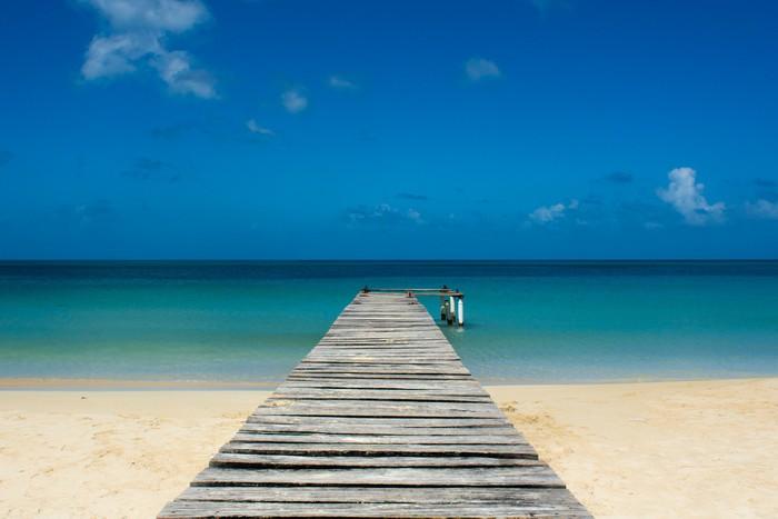 Vinylová Tapeta Molo na tropické pláži - Porticciolo su Spiaggia caraibica - Témata