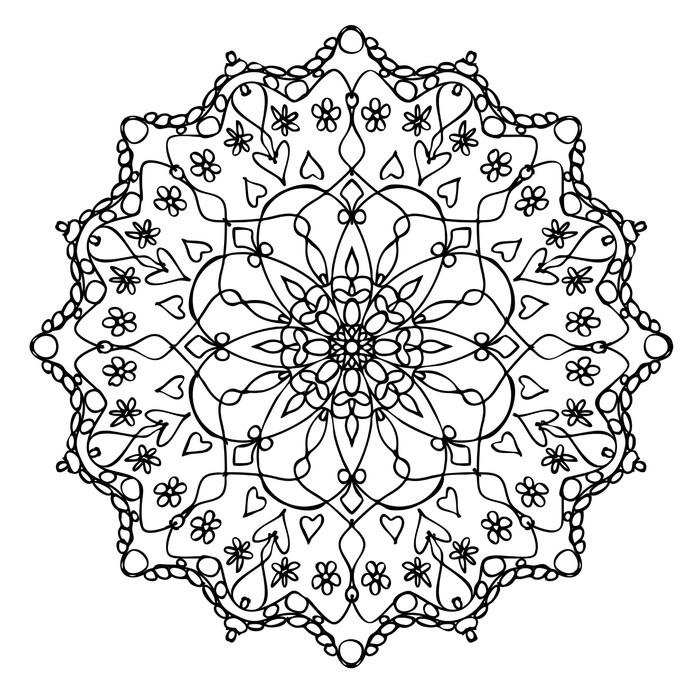 Vinilo pixerstick mandala y negro blanco pixers for Vinilos pared mandalas