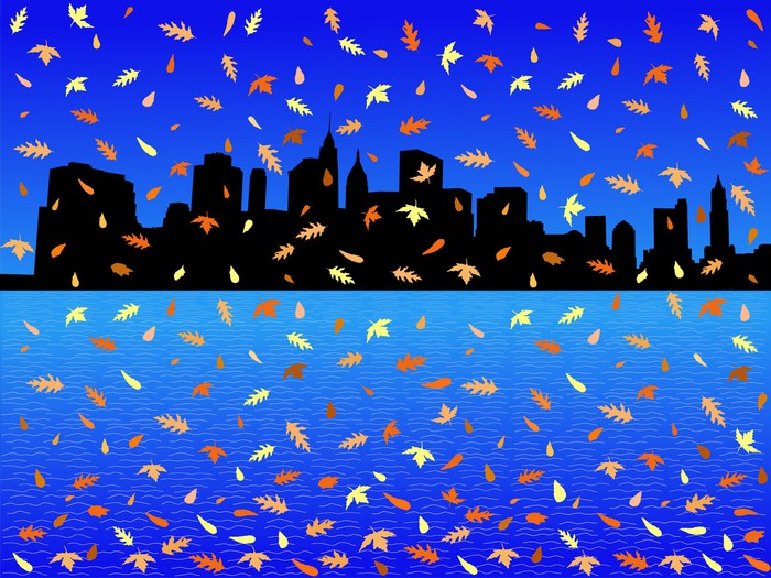 Vinylová Tapeta Dolní Manhattan skyline na podzim - Americká města