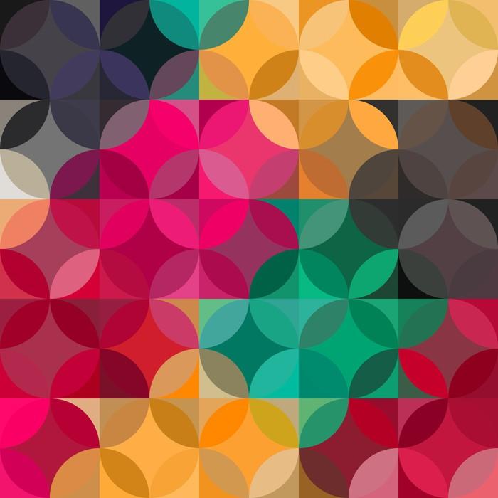 Vinylová Tapeta Abstraktní barevné geometrické pozadí - Pozadí