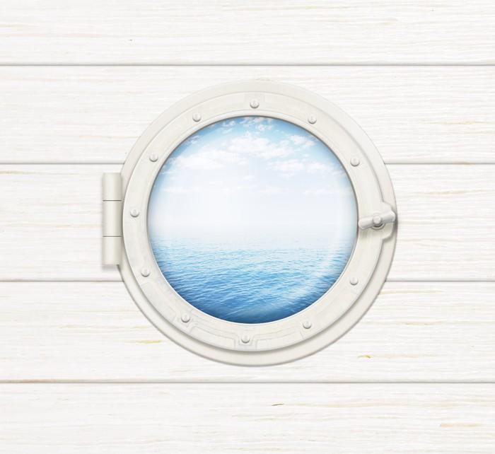 fototapete schiff fenster oder bullauge auf holzwand mit meer oder ozean sichtbar pixers. Black Bedroom Furniture Sets. Home Design Ideas
