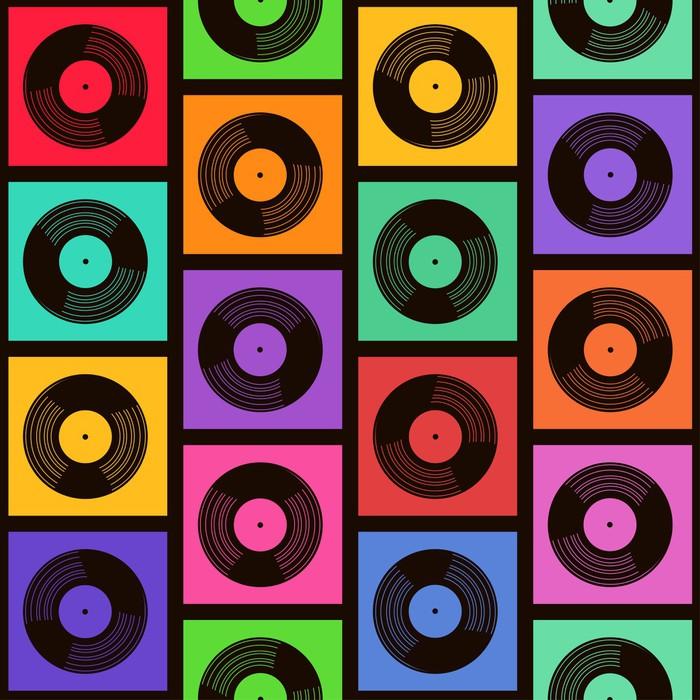 Fototapete Nahtlose Muster von Vinyl-Schallplatten • Pixers® - Wir ...