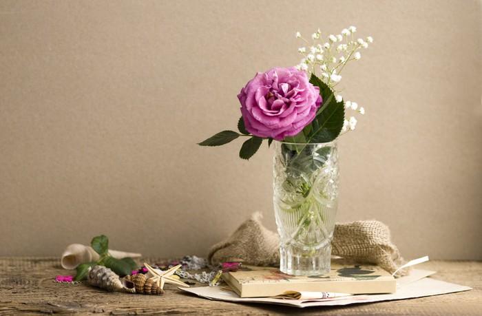 Papier Peint à Motifs Vinyle Roza - Fleurs