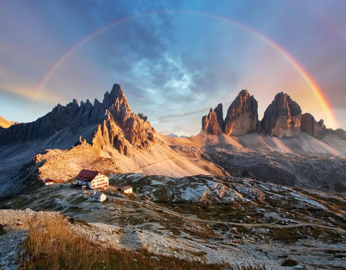 Carta da parati dolomiti montagna in italia al tramonto - Immagini da colorare delle montagne ...