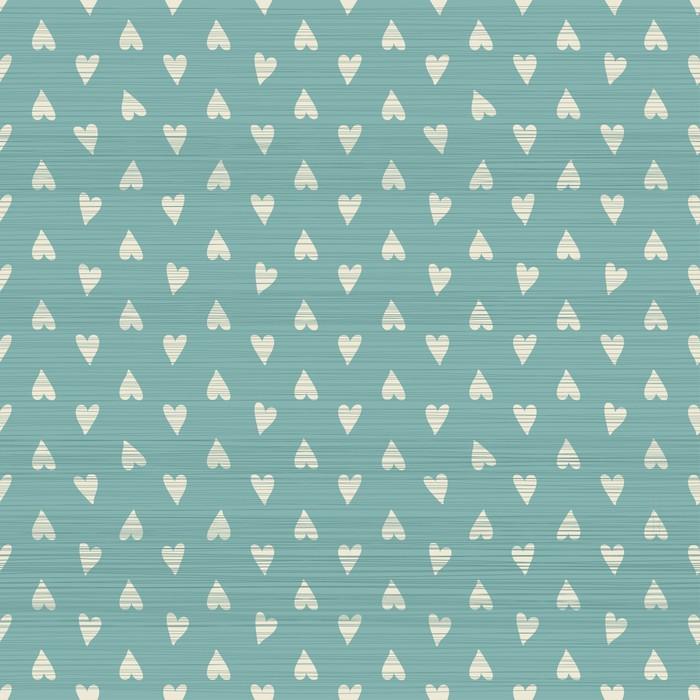 Vinylová Tapeta Bezešvé doodle srdce vzor s textilní strukturou - Pozadí