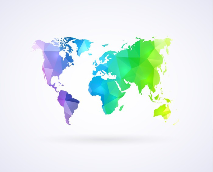 World map of rainbow color wall mural pixers we live to change world map of rainbow color vinyl wall mural styles gumiabroncs Images