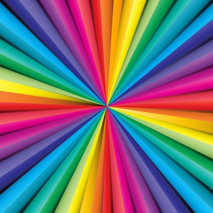 Sticker r sum de fond ray avec des couleurs arc en - Arcobaleno a colori e stampa ...