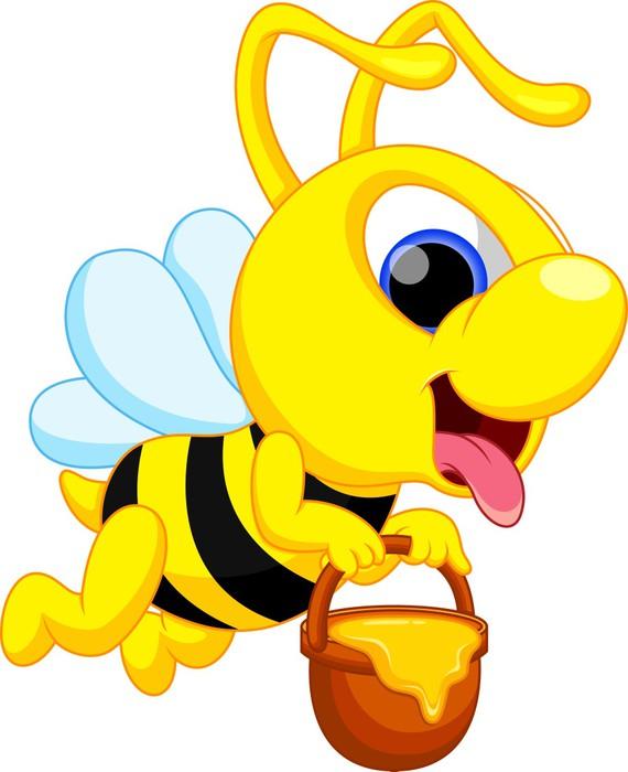 Carta da parati ape carino cartone animato pixers