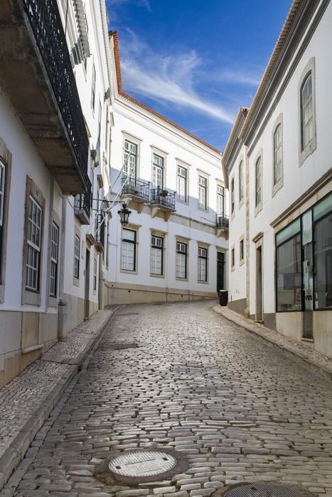 Vinylová Tapeta Historické ulice na starém městě Faro, Portugalsko. - Témata