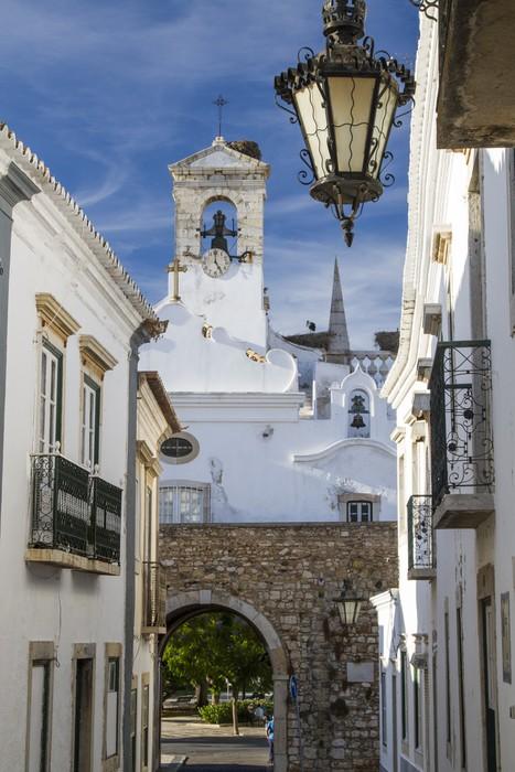 Papier Peint Vinyle Église de la ville de Faro, au Portugal. - Thèmes