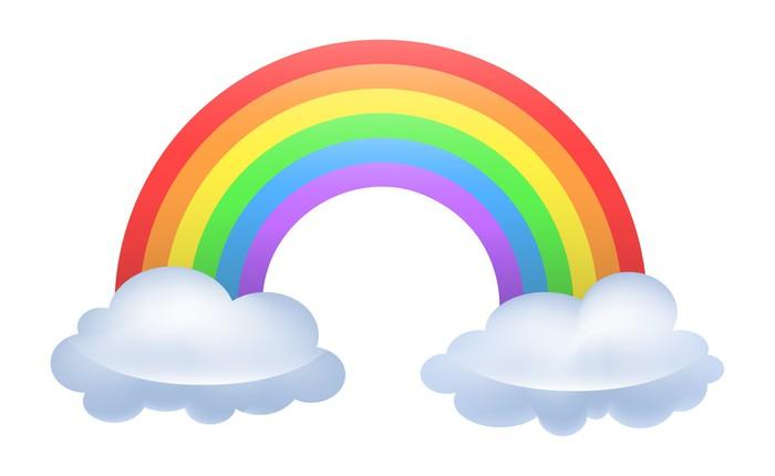 Rainbow Pixerstick Sticker - Wall decals